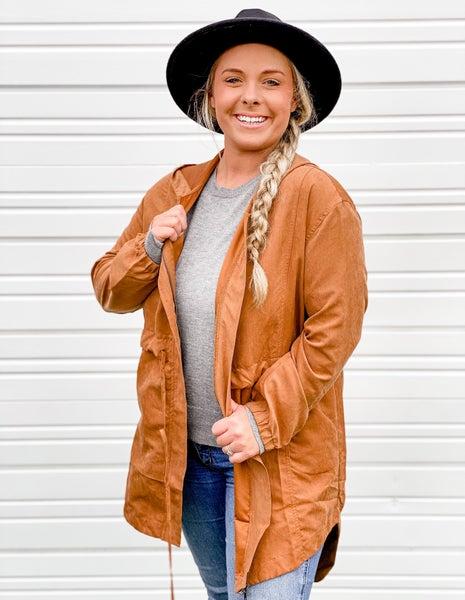 'Take A Rain Check' Drawstring Hooded Jacket