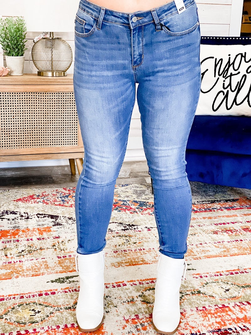 No Destroy Skinny Jeans