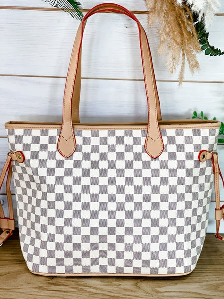 Bad and Bougie Checkered Tote