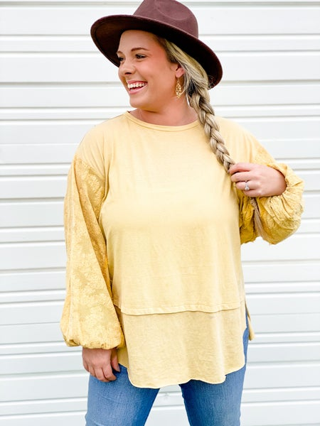 'Drop The Bass' Bubble Sleeve Top