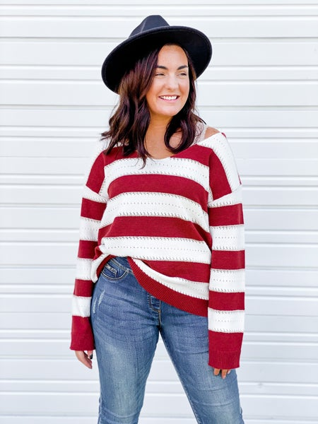 'Chasin' You' Striped Sweater