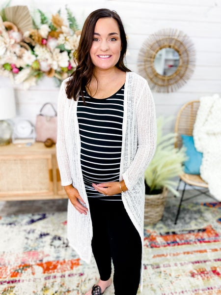 'Please Me' Duster Knit Cardigan