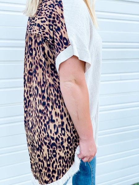 'Wild Girl' Cheetah Back Top