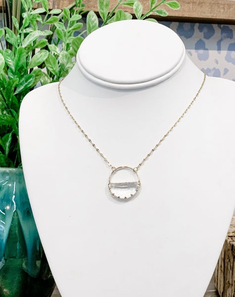 'Ella' Clear Gold Necklace