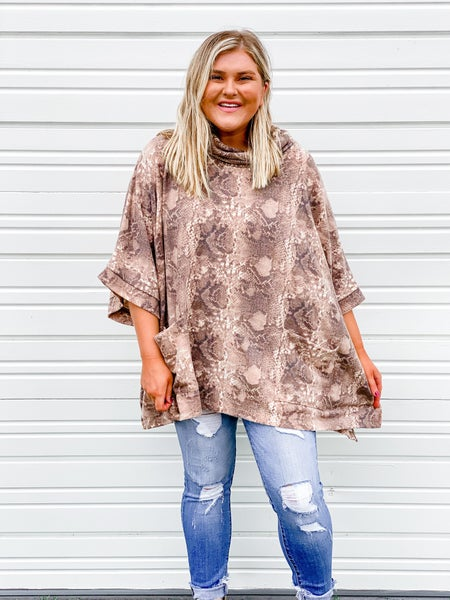 'Slide into My DMs' Poncho Top