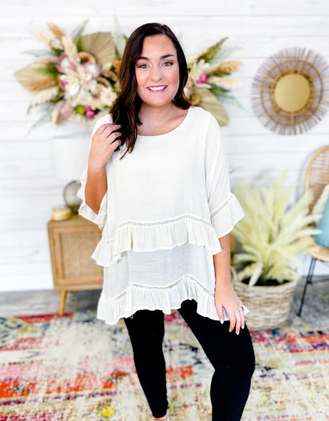 'He Loves Me Not' Layered Blouse