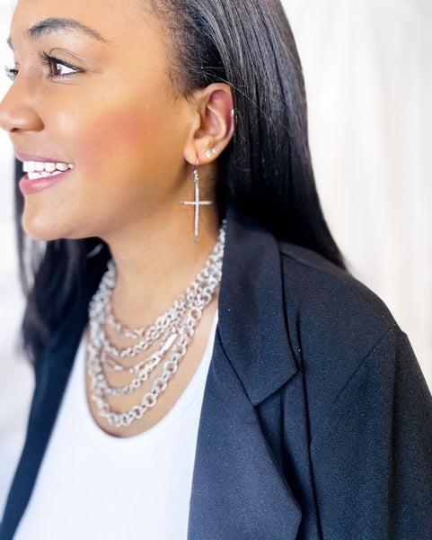 'Finally Free' Cross Earring