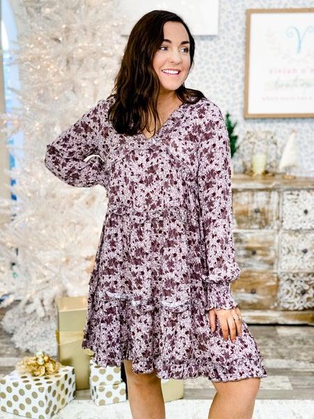 'Story Teller' Floral Detail Dress