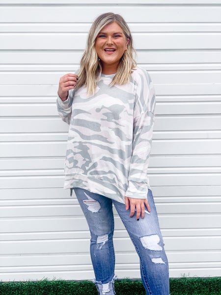 'Won't Be Ignored' Camo Long Sleeve Top