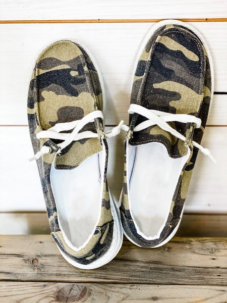 'Above It All' Camo Slip On