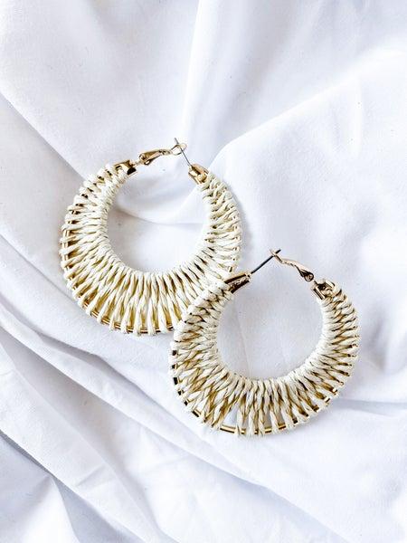 'Weave My Way' Hoop Earrings