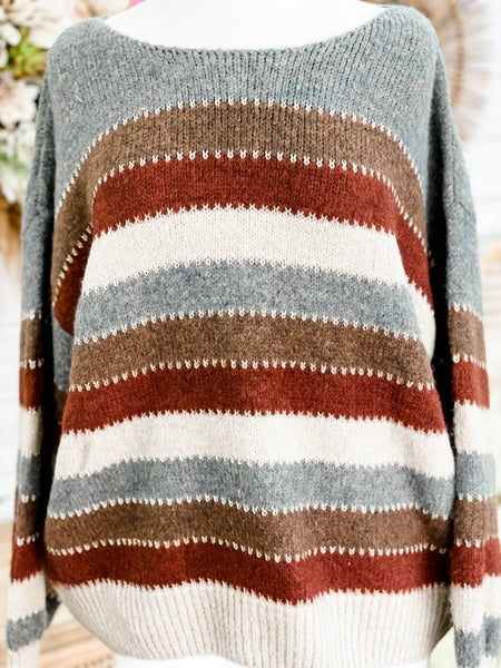 'Strutting In Stripes' Sweater