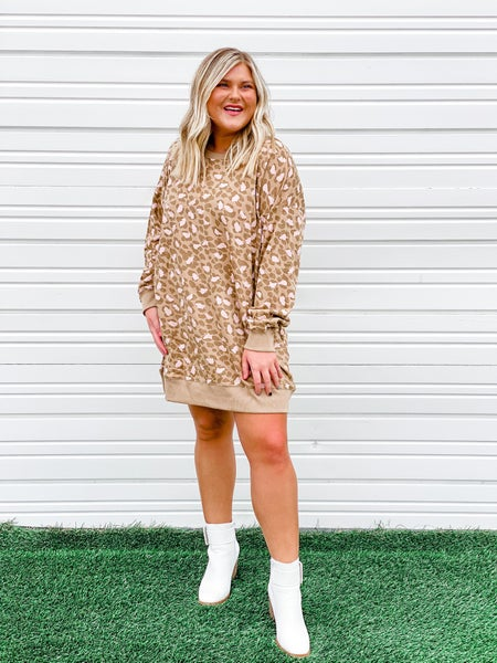 'Can't Stop the Beat' Sweatshirt Dress