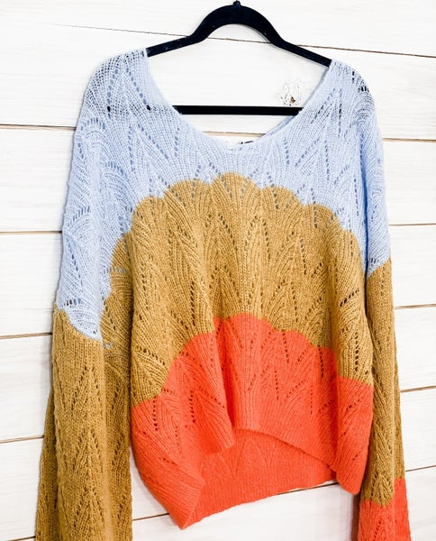'End Of The Rainbow' Cropped Sweater