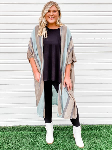 'Last To Love' Striped Duster