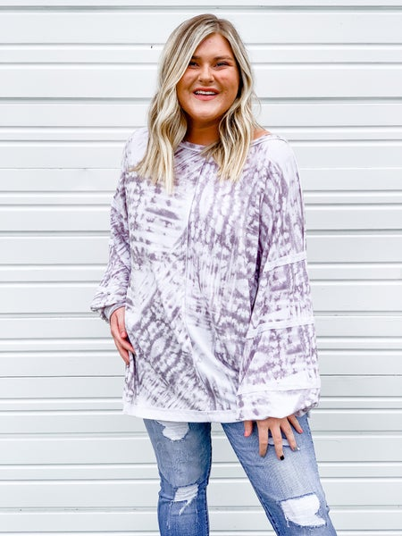 'Fall With Me' Balloon Sleeve Top
