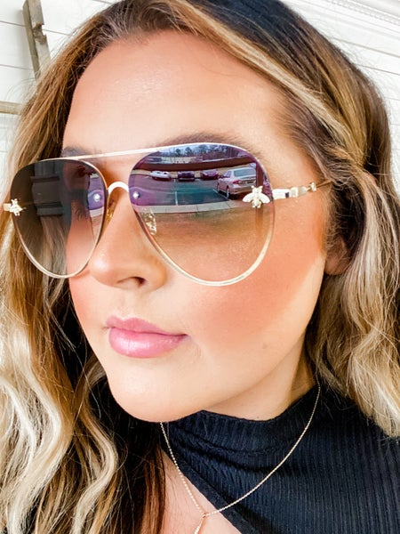 'Baddest Babe' Aviator Sunglasses