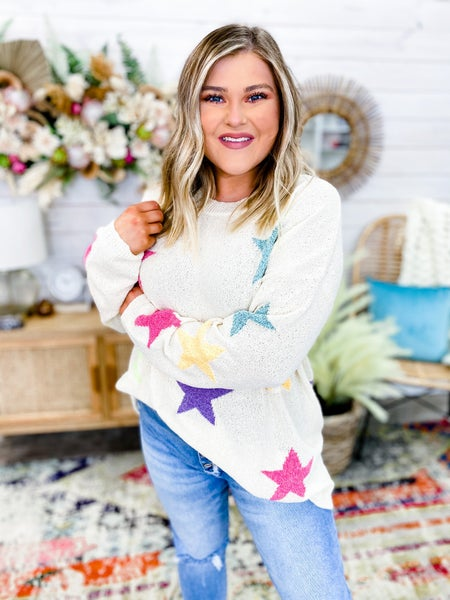 'Shooting For the Stars' Lightweight Sweater