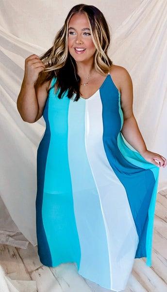 'Ocean Breeze' Maxi Dress