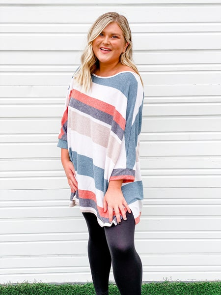 'Treat Me Right' Poncho Style Top