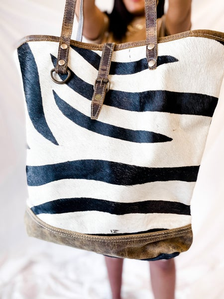 'Wild About You' Zebra Hair Bag