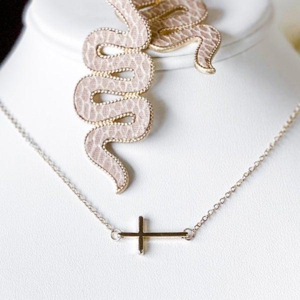 'Dainty Girl' Cross Necklace