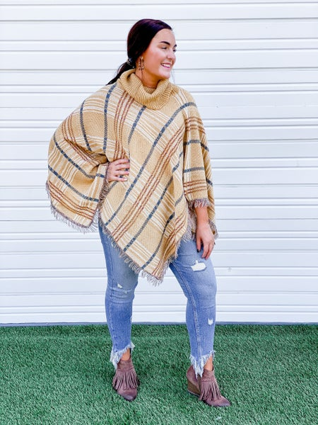 'Too Fab in Plaid' Poncho