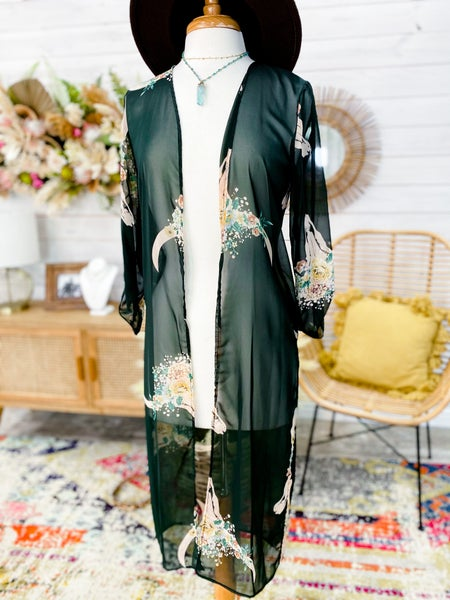 'No Bull Babe' Duster Kimono