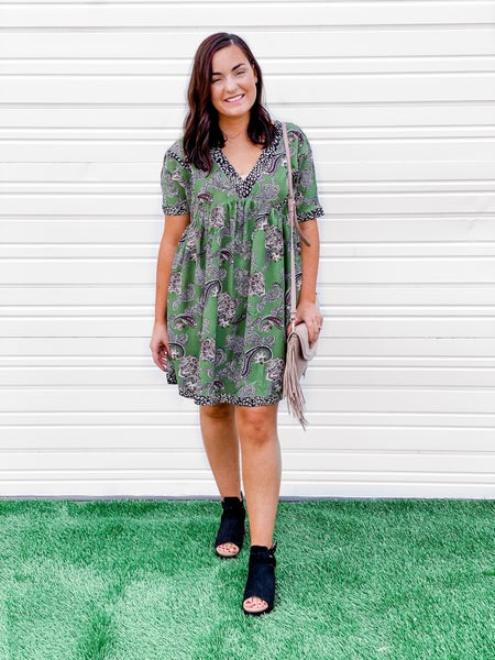 'I'll Go Anywhere With You' Paisley Print Dress