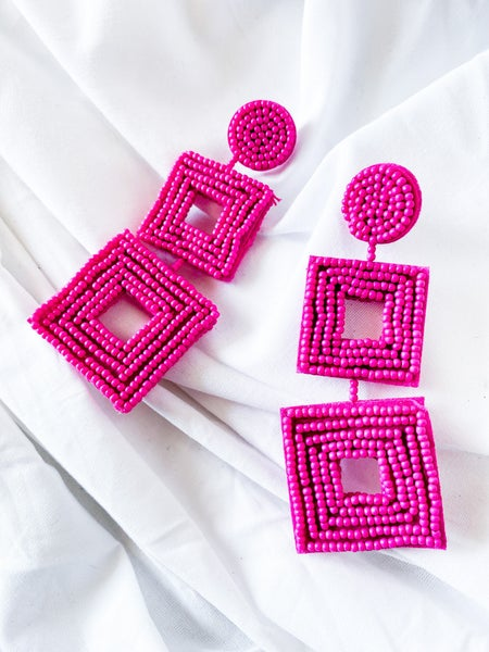 'Summer Breeze' Seedbead Earrings
