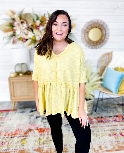 'I Got Sunshine' Peplum Blouse