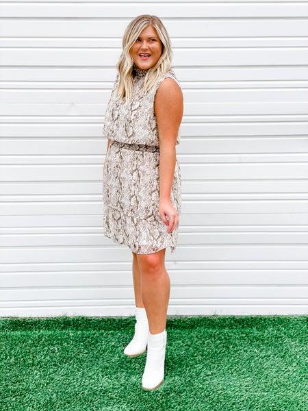 'Fancy Girl' Snakeskin Dress