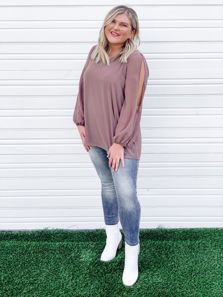 'Chill Out' Cold-Shoulder Blouse