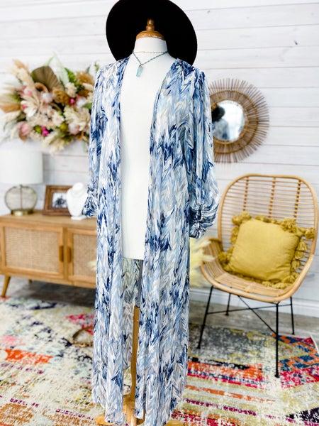 'Seas The Day' Duster Kimono