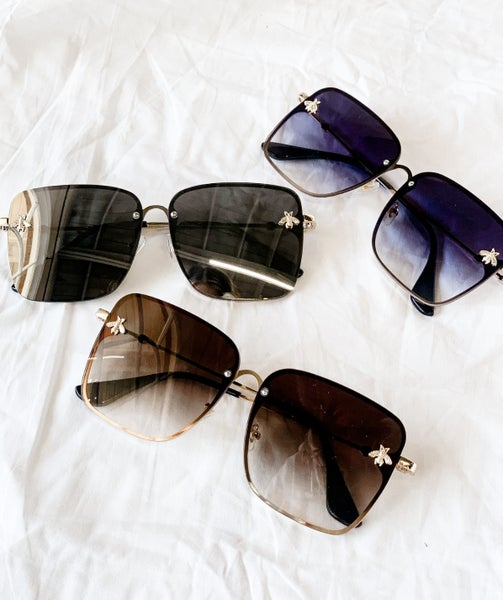 'Baddest On The Block' Square Sunglasses