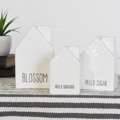 Set of 3 - Decorative Houses