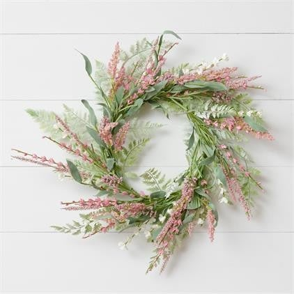 Wreath- Mauve and pink asst spikes