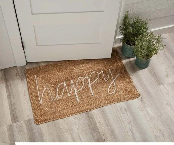 Happy Door Mat