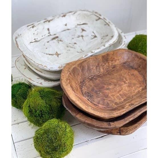 Medium Carved Dough Bowl