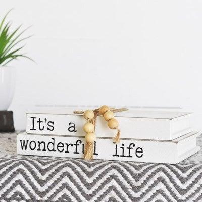 WONDERFUL LIFE BOOK SIGN