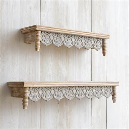 Shelves - Fleur-de-lis, Grey