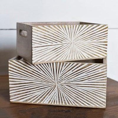 STARBURST WOOD BOX