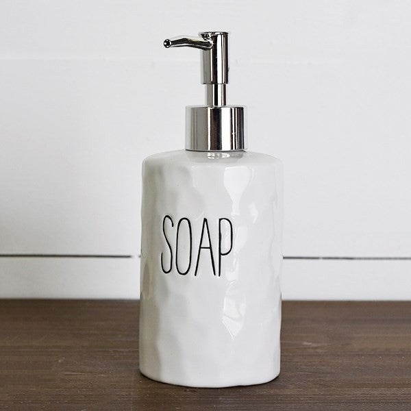 SOAP DISPENSER WITH WORD