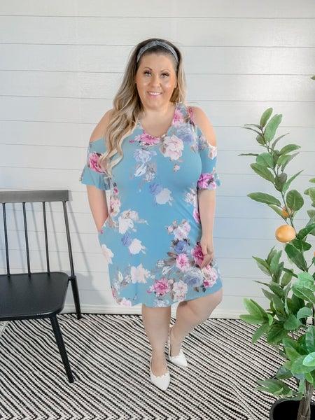 PLUS/REG Floral Dress