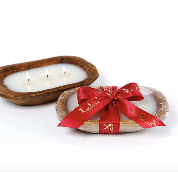 3 Wick Candles In Dough Bowl (4 scents)