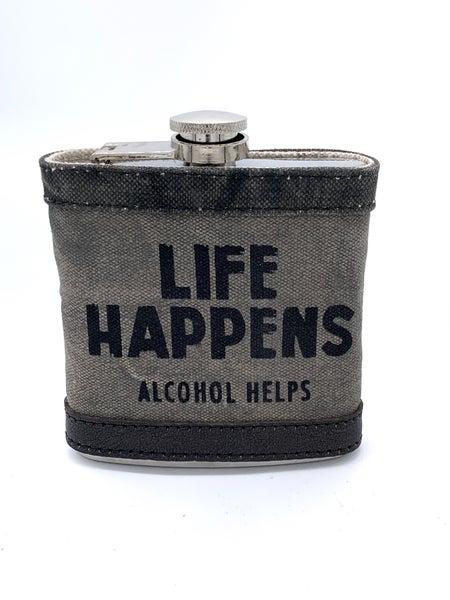 Life Happens Flask