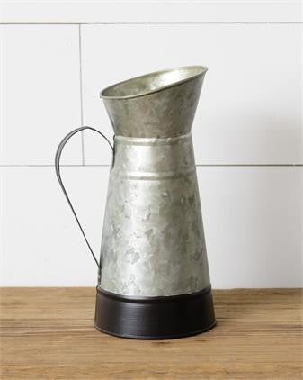 Galvanized Tin Pitcher