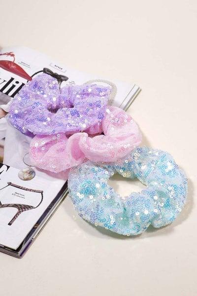 Sparkle  Scrunchies