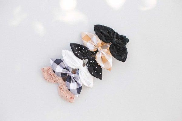 Mini Bow Scrunchies