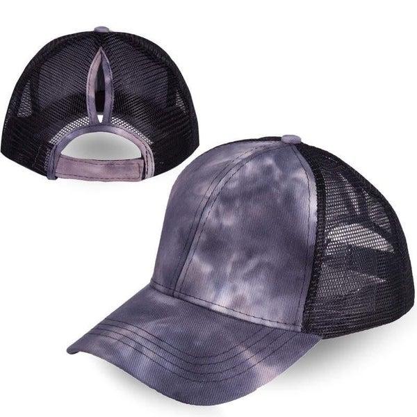 Tie Dye Ponytail Hats (3 Colors) *FINAL SALE*